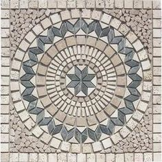 FLOORS 2000�36-in x 36-in Medallions Multicolor Natural Stone Mosaic Floor Tile (Actuals 36-in x 36-in)