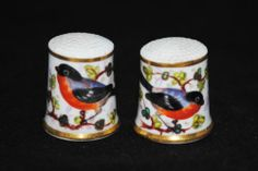 A Nice Pair of Porcelain Thimbles Probably by Royal Worcester of 19th Century | eBay /  Mar 16, 2014 / GBP 99.00