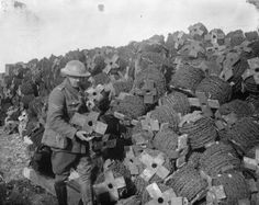 Great War 100 @GreatWar100  Feb 2 #WWI Photo taken 96 years ago, showing barbed wire dump near Ypres. @I_W_M #WW1 #ww1centenary pic.twitter.com/Xcxm6A1L4x