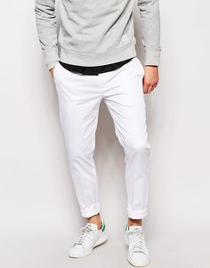 competitive price 09b40 c0467 ASOS Skinny Fit Smart Trousers In Cotton Sateen Men Street, Street Wear,  Street Style