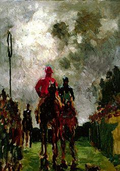 Henri De Toulouse-Lautrec - The Jockeys, 1882 at Museo Thyssen-Bornemisza Madrid Spain