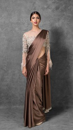 Manish Malhotra Latest Indian Designer Sarees Collection consists of new designs, styles of embroidered fancy, formal & wedding wear saree series Saris, Sari Bluse, Saree Designs Party Wear, Saree Jacket Designs, Drape Sarees, Silk Sarees, Georgette Sarees, Saree Jackets, Indian Designer Sarees