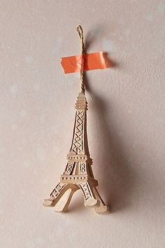 Handcarved Eiffel Tower Ornament #anthrofave #anthropologie #christmas #xmas