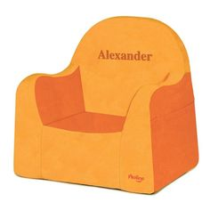 Pkolino Little Reader Personalized Chair Orange - PKFFLRAOR-P