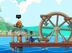 "Rivals of AetherSystem: PC, Xbox OneStatus: In DevelopmentRelease: TBADeveloper: Dan FornaceWebsite: rivalsofaether.com / SteamVideo: TrailerDescription: ""Rivals of Aether is an indie fighting game set in a world where warring civilizations summon the power of Fire, Water, Air, and Earth. Play with up to four players locally or up to two players online."""