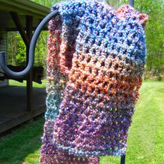 Crocheted scarf in LB homespun