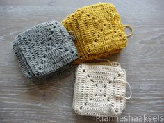 Granny square pattern in Dutch by Rianneshaaksels