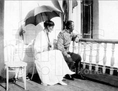Tsar and Empress while in captivity in Tobolsk. This is probably the last picture that was taken of them.