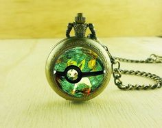Fashion Animation Charm Pokemon Leafeon Pocket Watches Unique Necklace,Gift Pendant