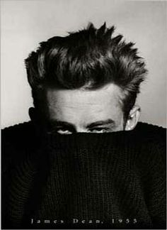 Phil Stern - James Dean in sweater, 1955