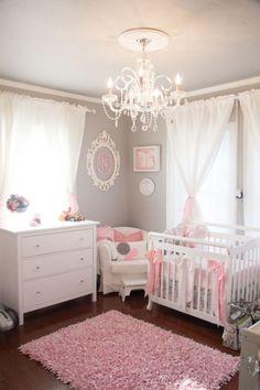 Adorable baby gir's nursery