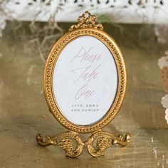 Gold Baroque Frames can be used for table numbers at your wedding or special event. Baroque frames will add a touch of elegance to your wedding reception. Oval Photo Frames, Antique Picture Frames, Antique Pictures, Gold Picture Frames, Gold Frames, Wedding Frames, Wedding Ideas, Table Wedding, Gold Wedding