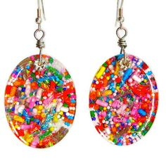 Colorful dangly sparkly candy resin earrings by sparklecityjewelry, $19.00