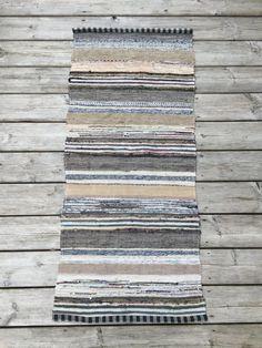 1.40m Vintage European Rag Rug Multi Colored by BeyondFranceLTD