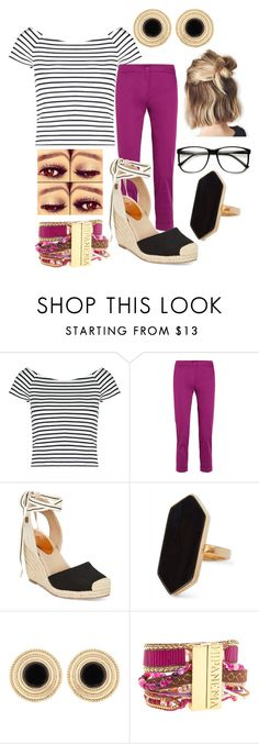 """""""Stripped Shirt """" by lulala002 ❤ liked on Polyvore featuring Lipsy, Etro, Roxy, Jaeger, Hipanema and stripedshirt"""