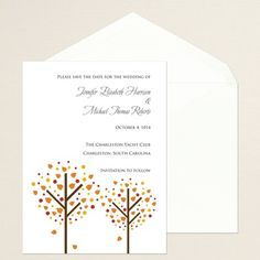 Shop Simply Bridal | Autumn Heart Save the Date