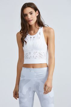 The Vixen Fitted Crop Tank from Alo
