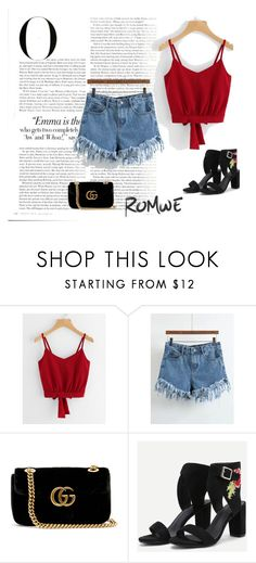 """""""Romwe 74"""" by zerina913 ❤ liked on Polyvore featuring Gucci, Vanity Fair and romwe"""