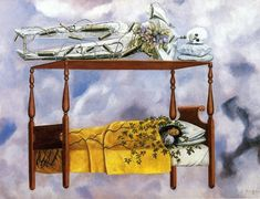 I like this painting by Frida Kahlo because it's interesting to see how she translated her fears, sufferings, and traumas into art.