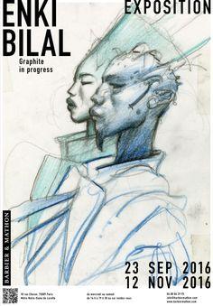 Enki Bilal expose et publie Graphite in progress à Paris Enki Bilal Bd, Graphic Design Illustration, Illustration Art, Science Fiction, Moving To Paris, Magazine Illustration, Comic Books Art, Illustrators, Fantasy Art