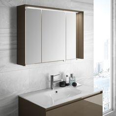 Plan vasque ne verre blanc alpin Cedam disponible en largeur 60,90,120 (simple et double vasque). Gamme Elite.