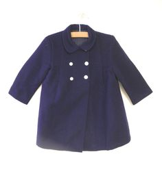 Vintage Girl's Clothes, 1950's Saks Fifth Avenue Navy Blue Peacoat ...