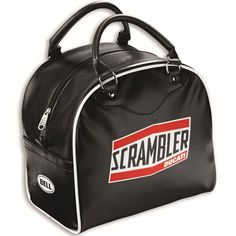 The Short Track helmet bag, with faux leather exterior and a soft inner lining, is the perfect way to protect your Short Track helmet and show your affinity to the new Ducati Scrambler world. Made exclusively for Ducati by Bell < Ducati Scrambler, Scrambler Motorcycle, Motorcycle Outfit, Motorcycles, Ducati Models, Leather Overalls, New Ducati, Motorcycle Saddlebags, Sportbikes
