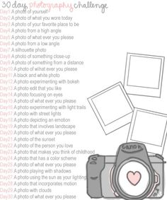 photo challenge - This looks like fun! Maybe do it along with a few friends and compare in the end!