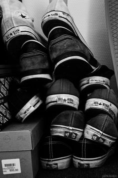 Converse All Star / Black and white photography