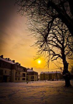 #Sunset @ #Male_Blonia_Estate #Szczecin