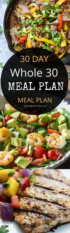 Back on Track Whole30 Meal Plan | I am, Whole30 and Meals