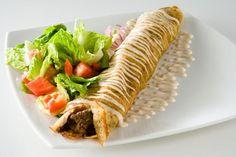 Lomo Árabe  Con especias del Medio Oriente y ensalada a su mejor estilo.