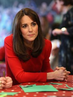 Catherine, Duchess of Cambridge attends the Anna Freud Centre Family School Christmas Party at Anna Freud Centre on December 15, 2015 in London, England.
