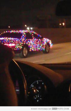 Christmas spirit on the road