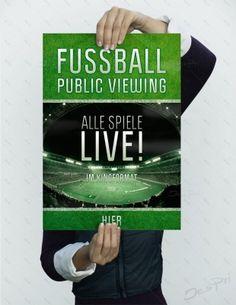 Fussball - Public Viewing - Alle Spiele LIVE! Im Kinoformat - Plakat, P-FP-0035   Plakate   Werbedesigns   Despri