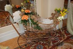 Antique Baby Carriage #bydzign #props #vegasdecor #décor #partyrentals For more info/ideas visit www.by-dzign.com