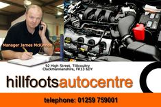 Hillfoots Autocentre 92 High Street Tillicoultry Clackmannanshire FK13 6DY Telephon 01259 759001