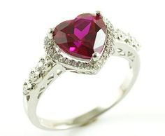 Handmade Jewellery and Bridal Accessories. Located in Castlebar, Co. Bridal Accessories, Heart Ring, Gemstone Rings, Handmade Jewelry, Engagement Rings, Gemstones, Red, Enagement Rings, Wedding Rings