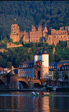 Heidelberg Castle and bridge, Germany. We toured the castle with Wanda and Bill. Places Around The World, Oh The Places You'll Go, Places To Travel, Places To Visit, Around The Worlds, Visit Germany, Germany Travel, Wonderful Places, Beautiful Places