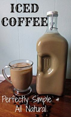 Simple & Natural Iced Coffee - try with coconut milk instead of condensed milk