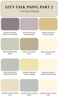 Room Paint Color Schemes | Brass & Whatnots