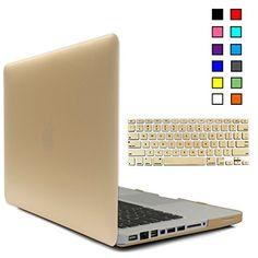 iBenzer - 2 in 1 Soft-Touch Serie Plastic Hard Case Cover & Keyboard Cover for Macbook Pro 13'' A1278, Gold MMP13GD+1 iBenzer http://www.amazon.com/dp/B00Z14MOTA/ref=cm_sw_r_pi_dp_ztUPvb1M514VE
