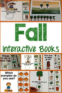 These 4 interactive or adapted books are fantastic for teaching about fall concepts, the life cycle of an apple, number concepts, reading and visual discrimination. The books are interactive and give students many chances to participate, so their attention to task is naturally developed. These books are perfect for special education classrooms, speech therapists and students with autism.