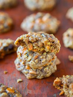 Soft and Chewy Spiced Carrot Cake Cookies (not cakey!) from @Averie Sunshine {Averie Cooks} Sunshine {Averie Cooks}