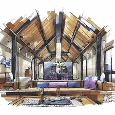 #architecture #arquitectura #sketch #scetch #design #art . by @001_elvis . Follow @arch_cad for more daily sketchs . . nice #interiordesign ✏❤