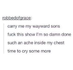 We have regrets and lots of feels #supernatural