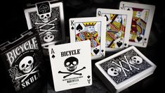 Bicycle Skull Playing Cards, more skull art inspirations and designs at skullspiration.com