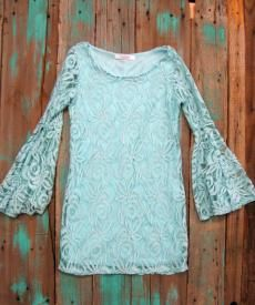 Western Lace Cowgirl Dress With Bell Sleeves $27.99