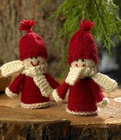 Snapseglas i maven Crochet Christmas Ornaments, Christmas Knitting, Christmas Crafts, Knitted Dolls, Crochet Toys, Knit Crochet, 1st Christmas, Xmas, Knit Picks