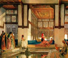 Image from http://www.ecognoscente.com/images110/orientalism_John%20Frederick%20Lewis_The%20Reception.jpg.